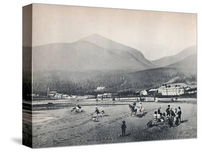 'Newcastle, Co. Down. - The Strand, with Slieve Donard', 1895-Unknown-Stretched Canvas Print
