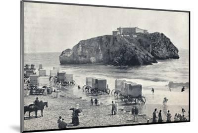 'Tenby - St. Catherine's Rock and Fort', 1895-Unknown-Mounted Photographic Print