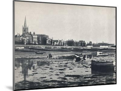 'Harwich - The Beach at Low Tide', 1895-Unknown-Mounted Photographic Print