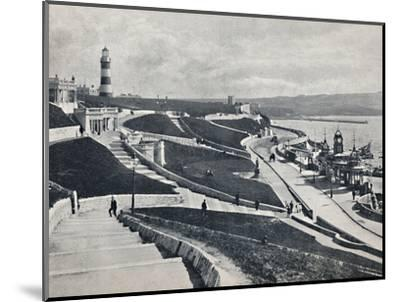 'Plymouth - The Hoe', 1895-Unknown-Mounted Photographic Print
