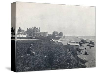 'Bexhill - The Hotels and the Beach', 1895-Unknown-Stretched Canvas Print