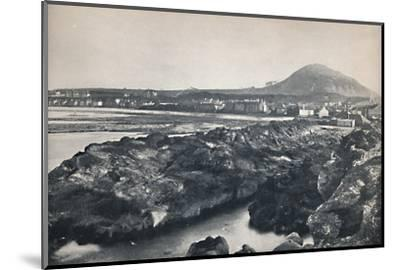'North Berwick - From the Rocks, Showing North Berwick Law', 1895-Unknown-Mounted Photographic Print