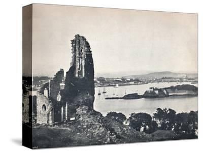 'Plymouth - Drake's Island, from Mount Edgcumbe', 1895-Unknown-Stretched Canvas Print