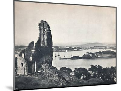 'Plymouth - Drake's Island, from Mount Edgcumbe', 1895-Unknown-Mounted Photographic Print