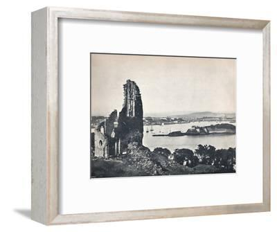 'Plymouth - Drake's Island, from Mount Edgcumbe', 1895-Unknown-Framed Photographic Print