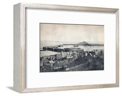 'Guernsey - St. Peter-Port and Castle Cornet', 1895-Unknown-Framed Photographic Print