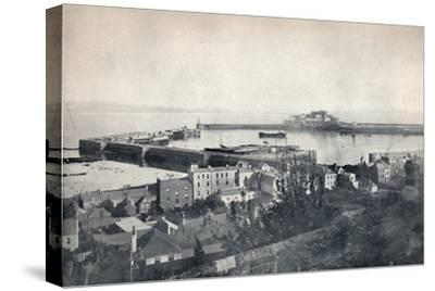 'Guernsey - St. Peter-Port and Castle Cornet', 1895-Unknown-Stretched Canvas Print