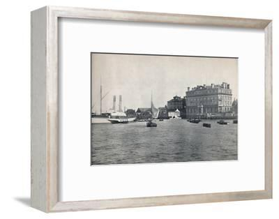 'Harwich - The Quay and Great Eastern Hotel', 1895-Unknown-Framed Photographic Print