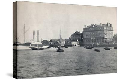 'Harwich - The Quay and Great Eastern Hotel', 1895-Unknown-Stretched Canvas Print