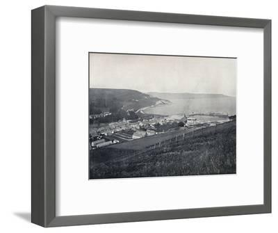 'Glenarm - The Town and the Harbour', 1895-Unknown-Framed Photographic Print