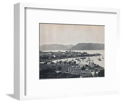 'Gourock - The Town and the Harbour', 1895-Unknown-Framed Photographic Print