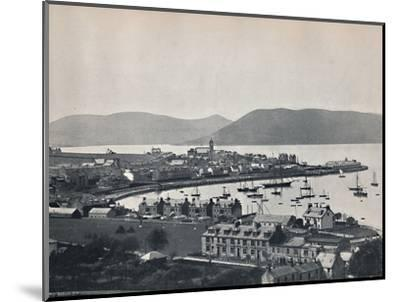 'Gourock - The Town and the Harbour', 1895-Unknown-Mounted Photographic Print