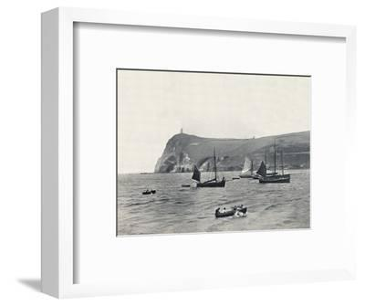 'Port Erin - Bradda Head, with the Milner Tower', 1895-Unknown-Framed Photographic Print
