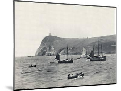 'Port Erin - Bradda Head, with the Milner Tower', 1895-Unknown-Mounted Photographic Print