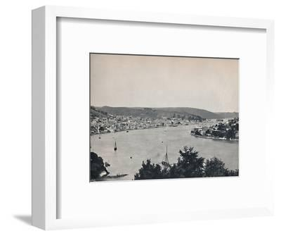 'Dartmouth - General View, Showing the Britannia Floating Naval College', 1895-Unknown-Framed Photographic Print