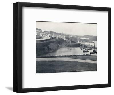 'Dunmore - The Town and the Harbour', 1895-Unknown-Framed Photographic Print
