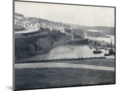 'Dunmore - The Town and the Harbour', 1895-Unknown-Mounted Photographic Print