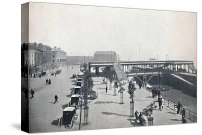'Hull - The Pier and Front', 1895-Unknown-Stretched Canvas Print
