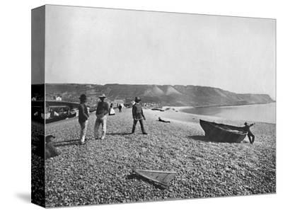 Portland - The Chesil Beach', 1895-Unknown-Stretched Canvas Print