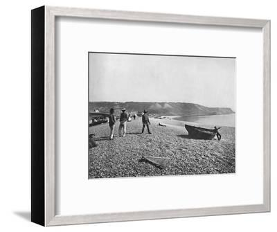 Portland - The Chesil Beach', 1895-Unknown-Framed Photographic Print