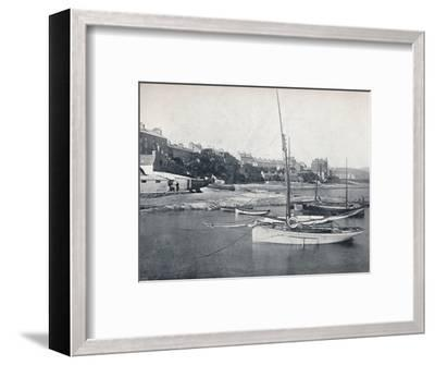 'Port St. Mary - The Town and Harbour', 1895-Unknown-Framed Photographic Print