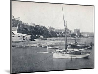 'Port St. Mary - The Town and Harbour', 1895-Unknown-Mounted Photographic Print