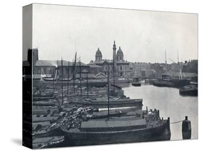 'Hull - Prince's Dock: With The Wilberforce Memorial and Dock Offices', 1895-Unknown-Stretched Canvas Print