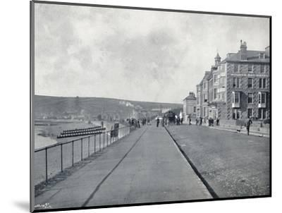 'Penzance - The Esplanade', 1895-Unknown-Mounted Photographic Print
