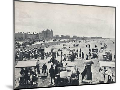 'Weston-Super-Mare - A Summer Scene on the Sands', 1895-Unknown-Mounted Photographic Print