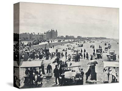 'Weston-Super-Mare - A Summer Scene on the Sands', 1895-Unknown-Stretched Canvas Print