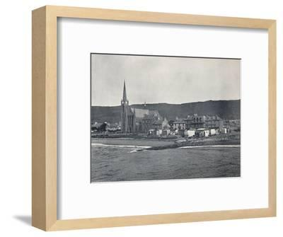 'Largs - From the Sea', 1895-Unknown-Framed Photographic Print