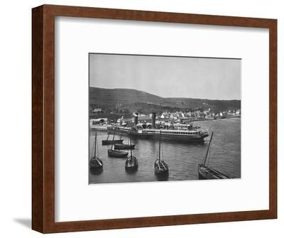 'Ardrishaig - The Steamer Columba at Ardrishaig Quay', 1895-Unknown-Framed Photographic Print