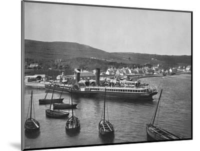 'Ardrishaig - The Steamer Columba at Ardrishaig Quay', 1895-Unknown-Mounted Photographic Print