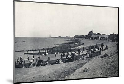 'Sheerness - The Promenade and Beach', 1895-Unknown-Mounted Photographic Print