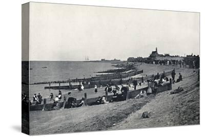 'Sheerness - The Promenade and Beach', 1895-Unknown-Stretched Canvas Print