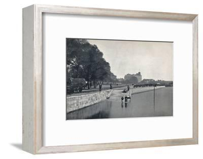 'Southampton - The Platform', 1895-Unknown-Framed Photographic Print