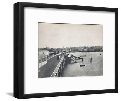 'Ryde - View from the Pier', 1895-Unknown-Framed Photographic Print