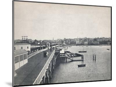 'Ryde - View from the Pier', 1895-Unknown-Mounted Photographic Print