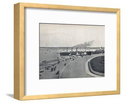 'Fleetwood - The Promenade: Departure of the Isle of Man Steamer', 1895-Unknown-Framed Photographic Print