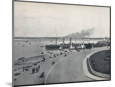 'Fleetwood - The Promenade: Departure of the Isle of Man Steamer', 1895-Unknown-Mounted Photographic Print