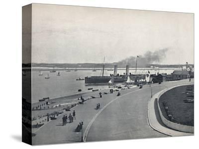 'Fleetwood - The Promenade: Departure of the Isle of Man Steamer', 1895-Unknown-Stretched Canvas Print