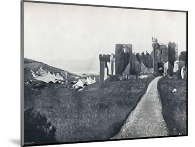 'Manorbier - The Castle', 1895-Unknown-Mounted Photographic Print