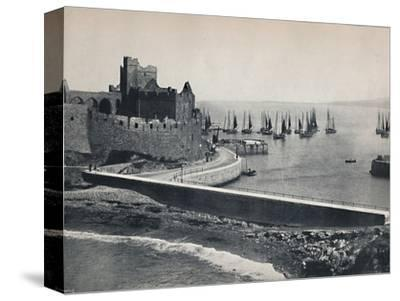 'Peel - The Old Castle and Harbour', 1895-Unknown-Stretched Canvas Print