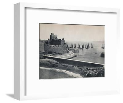 'Peel - The Old Castle and Harbour', 1895-Unknown-Framed Photographic Print