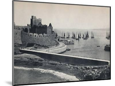 'Peel - The Old Castle and Harbour', 1895-Unknown-Mounted Photographic Print