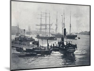 'Newcastle-On-Tyne - View on the Tyne', 1895-Unknown-Mounted Photographic Print