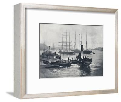 'Newcastle-On-Tyne - View on the Tyne', 1895-Unknown-Framed Photographic Print
