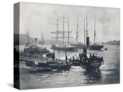 'Newcastle-On-Tyne - View on the Tyne', 1895-Unknown-Stretched Canvas Print