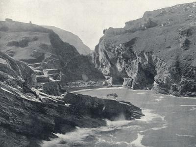 'Tintagel - Showing King Arthur's Castle', 1895-Unknown-Framed Photographic Print