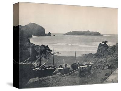 'Mullion Cove - Showing Mullion Island', 1895-Unknown-Stretched Canvas Print